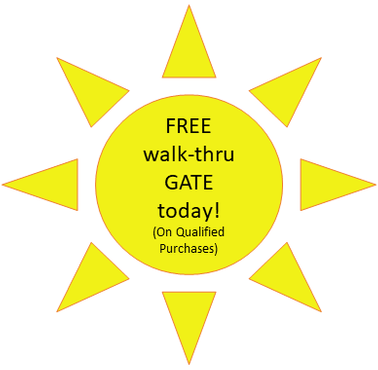 free walk-thru gate today graphic