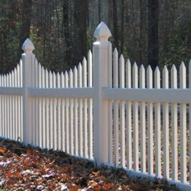 white fence in the fall