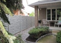 fence by house